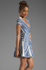 Image 3 of Pencey Deep V Dress in Blue