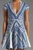 Image 5 of Pencey Deep V Dress in Blue
