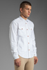 Image 2 of PRPS Goods & Co. Oxford Shirt in White