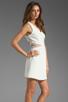 Image 3 of Parker Neptune Mesh Dress in Linen Combo