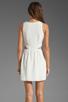 Image 4 of Parker Neptune Mesh Dress in Linen Combo