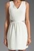 Image 5 of Parker Neptune Mesh Dress in Linen Combo