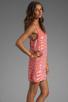 Image 3 of Parker Tonal Zebra Sage Dress in Grapefruit