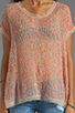 Image 3 of Parker Rae Neutral Pop Sequin Top in Flamingo