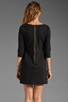 Image 4 of Plenty by Tracy Reese Patchwork Lace Front Shift Dress in Black/Silver