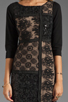 Image 5 of Plenty by Tracy Reese Patchwork Lace Front Shift Dress in Black/Silver