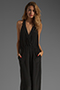 Image 1 of Plenty by Tracy Reese Crepe de Chine Surplice Jumpsuit in Black