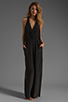 Image 2 of Plenty by Tracy Reese Crepe de Chine Surplice Jumpsuit in Black