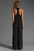 Image 4 of Plenty by Tracy Reese Crepe de Chine Surplice Jumpsuit in Black