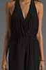 Image 5 of Plenty by Tracy Reese Crepe de Chine Surplice Jumpsuit in Black