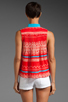 Image 2 of Plenty by Tracy Reese Sleeveless Shirt in Fiesta/Apricot