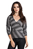 Image 1 of Plenty by Tracy Reese Novelty 2 Tone Twist Jersey Directional T in Pewter
