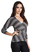 Image 2 of Plenty by Tracy Reese Novelty 2 Tone Twist Jersey Directional T in Pewter
