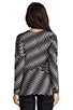 Image 3 of Plenty by Tracy Reese Novelty 2 Tone Twist Jersey Directional T in Pewter
