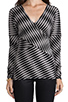 Image 4 of Plenty by Tracy Reese Novelty 2 Tone Twist Jersey Directional T in Pewter