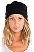 Image 1 of Plush Barca Slouchy Hat w/ Fleece Lining in Black