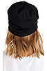 Image 3 of Plush Barca Slouchy Hat w/ Fleece Lining in Black