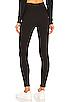 Image 3 of Plush Cotton Fleece Lined Legging in Black