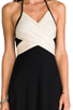 Image 4 of Rachel Pally Two Tone Halter Dress in Black & Cream