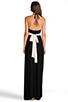 Image 5 of Rachel Pally Two Tone Halter Dress in Black & Cream