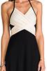 Image 6 of Rachel Pally Two Tone Halter Dress in Black & Cream