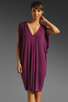 Image 1 of Rachel Pally Barret Drape Dress in Bordeaux