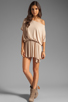 Image 2 of Rachel Pally Thea Mini Dress in Bamboo