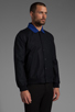 Image 3 of Fred Perry x Raf Simons Bomber Jacket w/ Detachable Collar in Navy