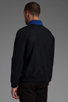 Image 4 of Fred Perry x Raf Simons Bomber Jacket w/ Detachable Collar in Navy