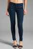 Image 1 of rag & bone/JEAN Mid Rise Zipper Legging in Cadet Blue