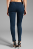 Image 3 of rag & bone/JEAN Mid Rise Zipper Legging in Cadet Blue
