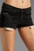 Image 4 of rag & bone/JEAN Mila Short in Destroyed Black