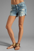 Image 1 of rag & bone/JEAN Boyfriend Short in Tattered