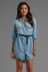 Image 1 of Rails Kyley Tencel Denim Tunic Dress in Light Blue