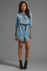Image 2 of Rails Kyley Tencel Denim Tunic Dress in Light Blue