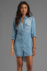 Image 3 of Rails Kyley Tencel Denim Tunic Dress in Light Blue