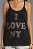 Image 3 of Rebel Yell NY Vintage Tank in Black
