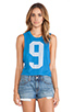 Image 1 of Rebel Yell Jogging Muscle Cut Off Tank in Royal