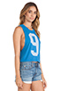 Image 2 of Rebel Yell Jogging Muscle Cut Off Tank in Royal