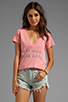 Image 1 of Rebel Yell Kiss More V Tee in Hot Pink