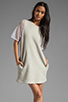 Image 1 of Riller & Fount Yasmin Short Sleeve Tunic in Dove/White Fishnet