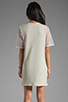 Image 4 of Riller & Fount Yasmin Short Sleeve Tunic in Dove/White Fishnet