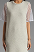 Image 5 of Riller & Fount Yasmin Short Sleeve Tunic in Dove/White Fishnet