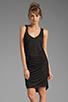 Image 1 of Riller & Fount Christina V-Neck Tunic Dress in Black