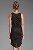 Image 4 of Riller & Fount Christina V-Neck Tunic Dress in Black