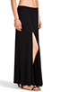 Image 2 of Riller & Fount Simon Double Front Slit Maxi Skirt in Black