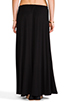 Image 3 of Riller & Fount Simon Double Front Slit Maxi Skirt in Black
