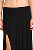 Image 4 of Riller & Fount Simon Double Front Slit Maxi Skirt in Black