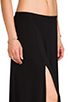 Image 5 of Riller & Fount Simon Double Front Slit Maxi Skirt in Black