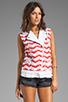 Image 2 of Rebecca Minkoff Jodi Vest in Burnt Orange
